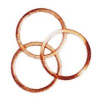 """EIBENSTOCK Měděný kroužek Měděný kroužek na vrtací korunku, 1 1/4"""". Měděný prstenec pro snadné uvolnění vrtací korunky, upnutí 1 1/4"""""""
